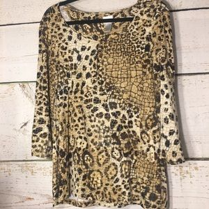 Chico's Animal/Snake Print Top 2X